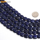 "Dyed Genuine Lapis Lazuli Stone Beads For Jewelry Making 15"" Square & Diagonal"