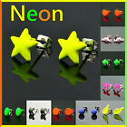 Trendy Fashion Assorted Styles Neon Bright Colors Pierced Stud Earrings