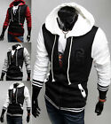 New Men's Top Designed Slim Fit Hoodies Hooded Jackets Coats Tops 3Color #HY