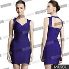 Ladies Sleeveless Stretch Mini Wedding Party Bandage Bodycon Dresses Size 681024