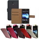 Flip Pu Leather Flip Case Wallet Cover For The Sony Xperia T LT30p