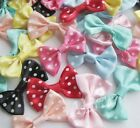 40/200pcs Upick Satin Ribbon Bows Print Dot DIY Sewing Appliques Crafts E15