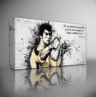 BRUCE LEE ICONIC QUOTE - PREMIUM GICLEE CANVAS WALL ART PRINT *Choose your size