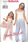 Butterick 6655 Junior's Top, Pants, Bag and Mask  Sewing Pattern