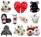 Novelty Mens Womens Slippers Funky Gift Warm Comfy Sizes 3 4 5 6 7 8 9 10 11 12