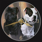 Staffordshire Bull Terrier (STAFFY) NOVELTY DOG WALL / DESK CD CLOCK  XMAS GIFT