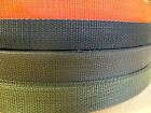 5M - 20 mm or 25 mm Polypropylene Webbing - Red, Green , Black Strapping, Tape