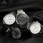 Ks Aviator Automatic Mechanical 6 Hands Date Day 4 Colors Mens Sport Watch + Box