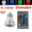 1 4 6 X E27 3.5W Remote Control LED Bulb Light 16 Color RGB Changing Lamp