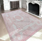 Cameo Savonnerie Pompadour Pink Patchwork Wool / Cotton Rugs - 8242