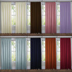 ELLA PREMIUM QUALITY PLAIN LINED TAPE TOP PENCIL PLEAT CURTAINS MULTIPLE COLOURS