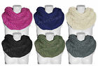New Ladies Womens Knitted Soft Cosy Snood Scarf Neck Wrap Shawl Cowl Warmer