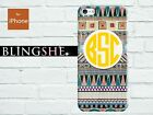 Personalized Aztec monogram hard case for iPhone 4 4s 5 5s 5c mn-03-ac