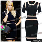 Womens Office Ladies Dress Bodycon Stretch Slim Business Dresses Size 810121416