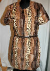 NWT SZ S&M ROMEO & JULIET COUTURE BELTED LEOPARD FAUX FUR CARDIGAN JACKET