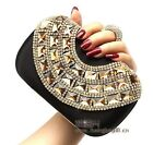 Ring Big Rhinestone Women Bride Cocktail Party Evening Clutch Bag Handbag Purse