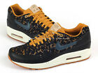 Nike Wmns Air Max 1 PRM Curtains Pack Black/Dark Armory Blue-Gold 454746-003