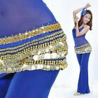 Belly Dance Dancing Wrap Velvet Hip Scarf Skirt Belts with Gold Coins