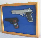 Pistol Gun Display Shadow Box Case Cabinet with,  Lockable glass door : GN01