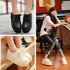 Black/White Women Fashion Platform Sneakers Wedge High Flats Shoes Round Toe NEW
