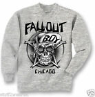 Fall Out Boy  Skull Sweatshirt  Crew Neck Sweater OFFICIAL S M L XL XXL Grey NEW