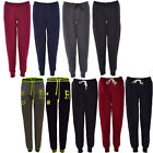 WOMEN LADIES QUILTED TRACKSUIT PADDED FLEEC CHINO PLAIN JOGGING BOTTOM TROUSERS