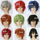 Halloween Men Women Layered Cosplay Wig Short Party Hair With Free Wig Cap Gift