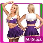 Cheerleader Uniform School Girl Costume  Fancy Dress Costume Purple