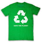 RECYCLE SAVE THE PLANET SYMBOL GREEN LIVING MENS LADIES T SHIRT TEE ALL SIZES