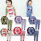 "2pcs NWT Vaenait Baby Kids' Clothes Boy Girl Sleepwear Pajama Set""Animal Family"""