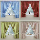 """PAIR POLKA DOT KITCHEN THERMAL CURTAINS 3"""" TAPE TOP PENCIL PLEAT MULTI COLOURS"""