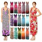 Long Floral Pattern Print Lace Back Casual Summer Sundress Day Dress UK 12-18