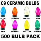 Case 500 C9 Christmas Light Bulbs Incandescent Ceramic Outdoor Lighting 7 Watt