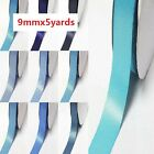 "DoubLe Faced Satin Ribbon 1/2"" /13mm. By 5 Yards,Lot BLue s #363 to #374 for bow"