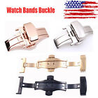 Double Push Button Fold Butterfly Deployment Watch Bands Strap Clasp Buckle
