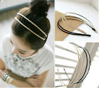 Fashion Metal Double Layer Lace Headband Barrette Hair Bands 2 Colors