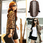 Fashion Women Leopard Patterned Chiffon Blouse Batwing Sleeve Tops One Size
