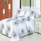 Luxury Black, White & Lavender Tiffany Print Pattern Egyptian Cotton Duvet Cover