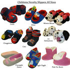 Kids Slippers All Sizes Novelty  Designs Minnie Dalmatian Iggle Piggle etc New