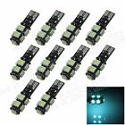 10X Canbus Error Free T10 9 SMD 5050 LED Ice Blue Car Wedge Light Lamp Bulb A011