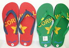 MENS JAYWALKER 'CORNWALL' FLIP FLOPS GREEN/RED/WHITE SIZES 7 - 11 UK 41 - 45 EU