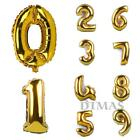 New Gold 16'' Aluminum Foil Balloon Numbers 0-9 Wedding Party Balloon Decoration