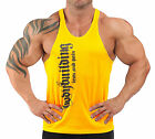 Iron & Pain T-back Bodybuilding Vest Workout Gym Clothing - Yellow