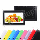 8GB 7 Google Android 4.4 A33 Quad Core Screen Camera Tablet PC Wifi For Kids