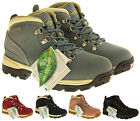 Ladies Leather Waterproof Rugged Tough Grippy Warm Sturdy Strong Ankle Boots 3-8