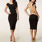 Womens Sexy Slim Fit Cocktail Bodycon Bandage Dress Clubwear Evening Dresses Hot