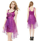 Girls Purple Short Sequins Cocktail Party Dresses Prom Ball Gown 03911 Size 6-18