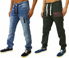 MENS ZICO CUFFED CARGO CHINOS & COMBATS JEANS JOGGERS DESIGNER TAPERED FIT DENIM