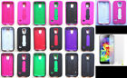 PRO ARMOR + SCREEN PROTECTOR Faceplate Phone Cover Case for Samsung Galaxy S5