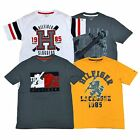 Tommy Hilfiger Kids Graphic T-shirt Boys Short Sleeve Flocked Shirt Patch V174